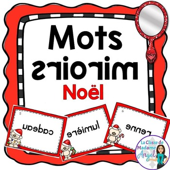 Noël:  Christmas Themed Vocabulary Center - Mots miroirs
