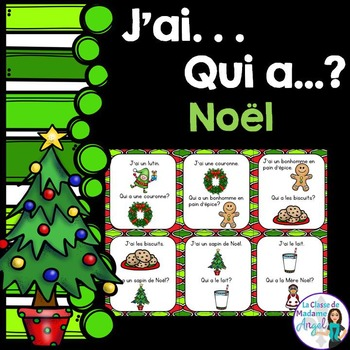 Noël:   Christmas Themed Vocabulary Game in French  - J'ai