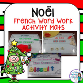 Noël:   French Christmas Themed Word Work Activity Mats