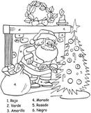 Noel- Color by Numbers in Spanish- Christmas