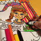 Noël: Coloriage, exercice de révision arts