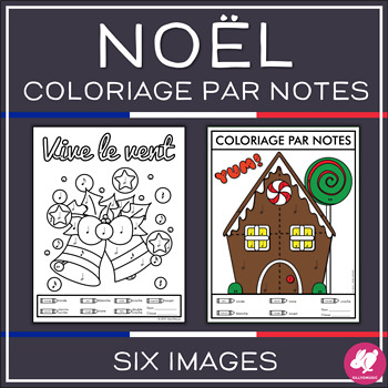 Noël coloriage par notes (French Christmas Color-by-Note)