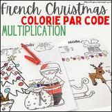Noël - Colorie par code (multiplications)