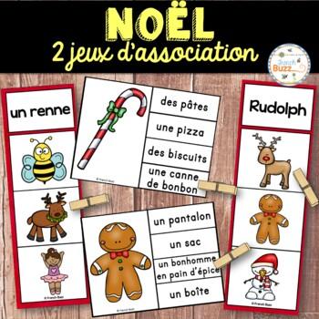 Noël - Ensemble 2 jeux d'association - French Christmas Cl