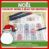 FRENCH Christmas Color by Word | Noël