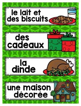 Noël FRENCH Word Wall