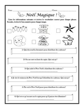 Noël: French Christmas Activities (7th to 12th)
