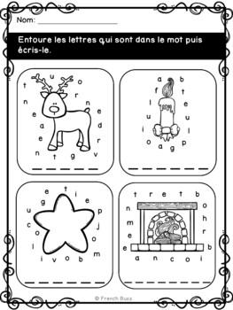 Noël - French Christmas - Cahier d'activités de l'élève