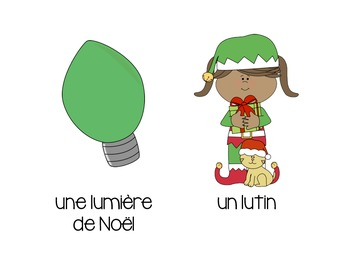 Noël - French Christmas Flash Cards