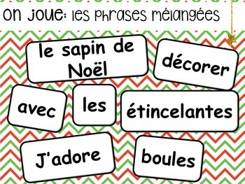 Noel French Christmas Presentation and Games
