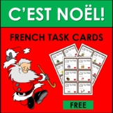 Noël: French Christmas Vocabulary FREE TASK CARDS