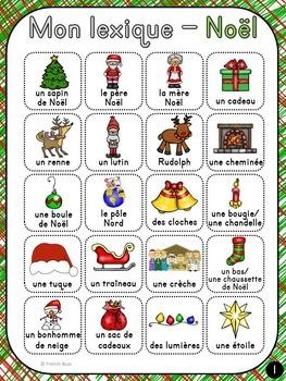 Noël - French Christmas - mur de mots et lexique (42 mots)