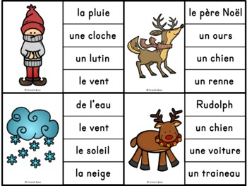 Noël - Jeu d'association #1 - French Christmas Clip Cards