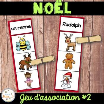 Noël - Jeu d'association #2 - French Christmas Clip Cards