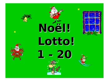 Noel Lotto/ French Teaching Resources. Christmas Bingo: Numbers 1-20