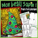 Noël : Mon beau sapin - projet d'arts plastiques