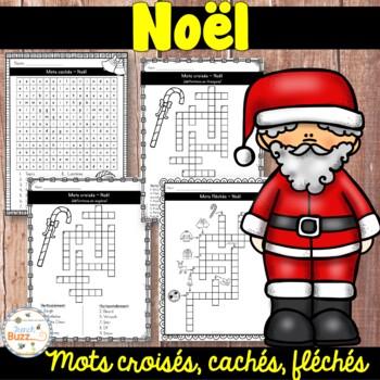 Noël - Mots croisés, cachés, fléchés - French Christmas