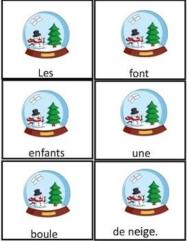 Noël Phrases Mêlées