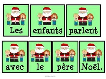 Noël - Phrases mêlées - French Christmas