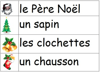 Noël: Je pratique mon vocabulaire {Christmas: French Vocabulary Practice)