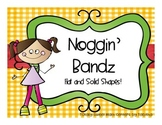 Noggin' Bandz- A Headband Game Flat and Solid Shapes