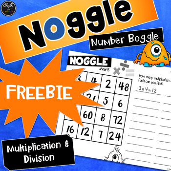 Noggle FREEBIE - Math Boggle - Multiplication and Division