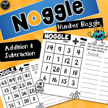 Noggle Math Boggle Addition Subtraction By Chalk And Chatter
