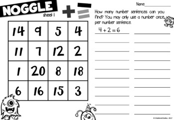 Noggle - Math Boggle - Addition & Subtraction