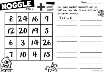 Noggle - Math Boggle - Addition & Subtraction by Chalk and ...