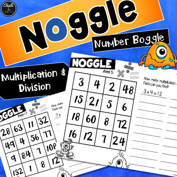 Noggle - Math Boggle - Multiplication and Division