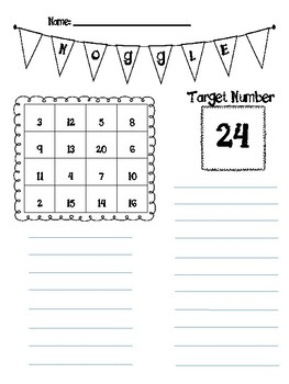 Noggle Math Game-Complete with 20 Ready Made Boards Bulletin Board Supplies Too!