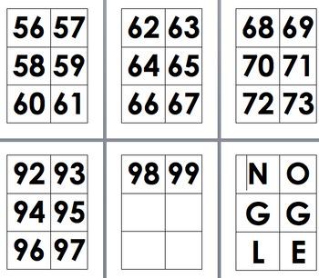 Noggle Number 0-99 for Noggle Board