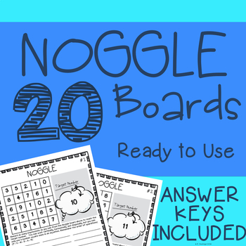 NOGGLE: Number Boggle with Answers!