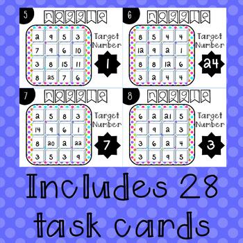Noggle Task Cards