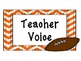 Noise Control Display for Classroom Management - Football