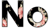 Noise Letters Display