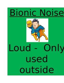 Noise Level Chart (Mission Version)