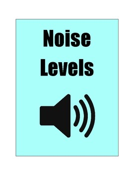 Noise Level Chart Tiffany Blue Color