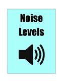 Noise Level Chart Tiffany Blue Color