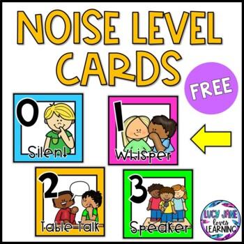 Noise Level Classroom Management FREEBIE