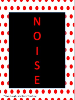 Red and Black Polka Dot Noise Level Control System
