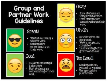 Noise Level Emoji Behavior Management Powerpoint