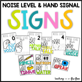 Noise Level & Hand Signal Signs