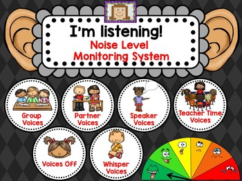 Noise Level Monitoring System - for use on your Smartboard or Projector!