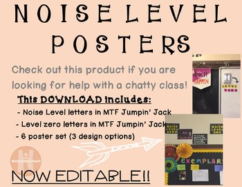 Noise Level Posters