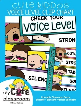 Voice Level Chart {Editable}