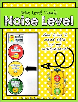 Noise Level Visuals: management posters to monitor noise level in your classroom