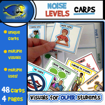 Noise Levels Cards Matching Game/Prompt Boards-4 Pages/48