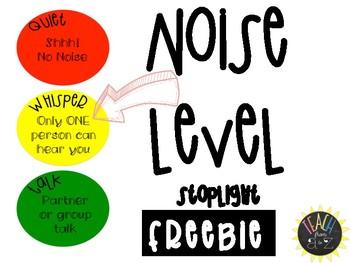 FREEBIE | Noise Levels Stoplight Chart