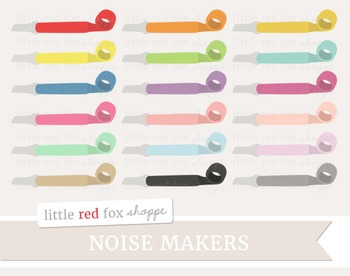 Noise Maker Clipart; Birthday Party, New Years, Favor